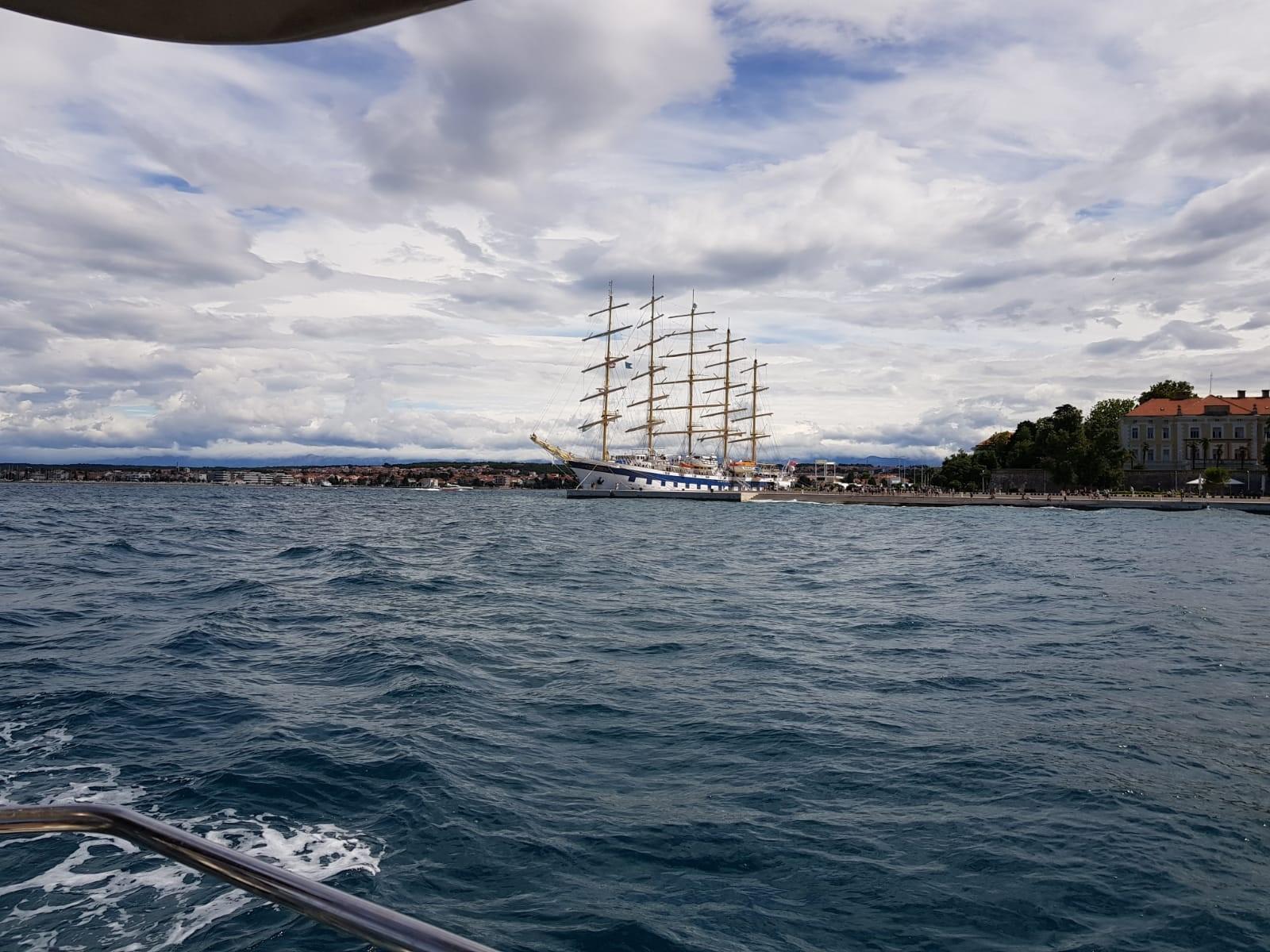 Großes Segelschiff in Kroatien