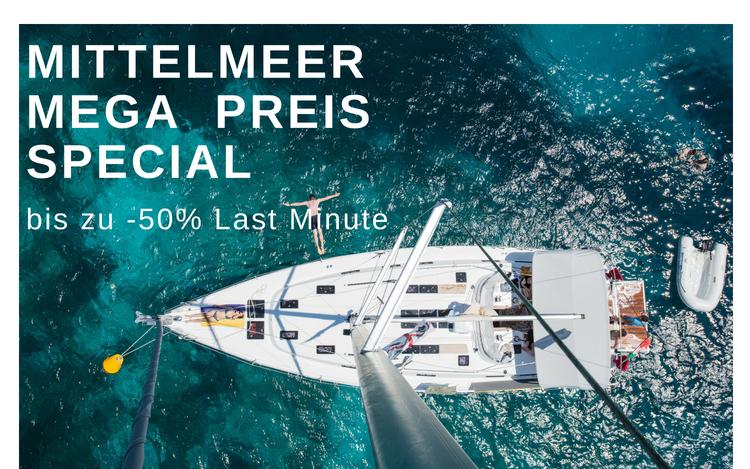 Yacht im Mittelmeer